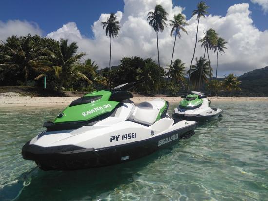 Uturoa, Polinesia Francesa: Arret baignade