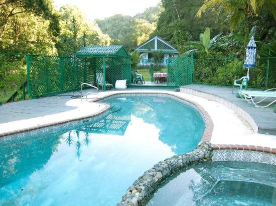 TJ Ranch: View across the pool
