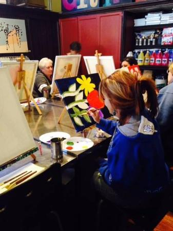 Hopkinsville, KY: Another canvas paint party at Griffin's Studio