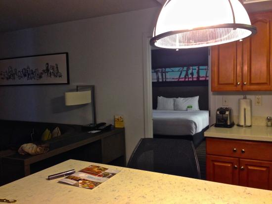 Englewood, CO: View from hall of kitchen and one bedroom