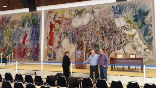 Knesset (Parliament) : שטיחי שאגאל באולם האורחים