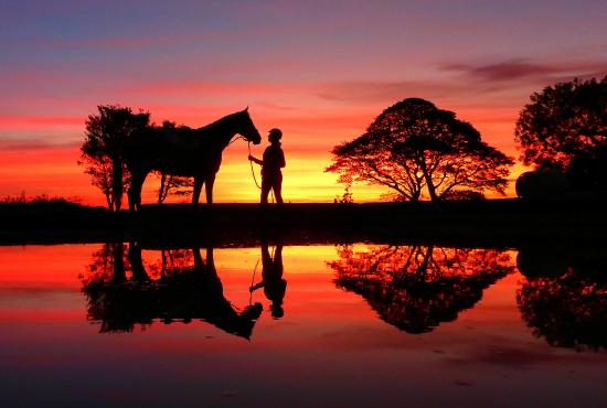 Ballina, Ierland: Sunset reflections out on the Iceford cross country course