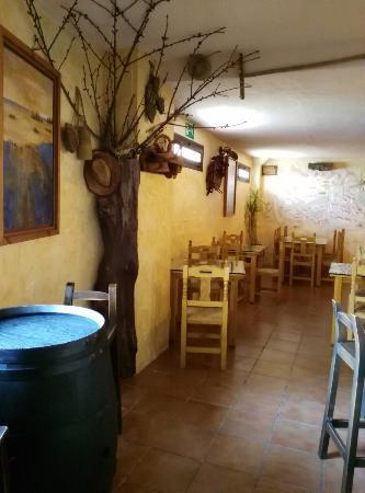 Alpandeire, สเปน: Nuestro árbol reciclado q da entrada a nuestro comedor