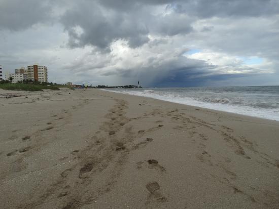 пляж перед грозой