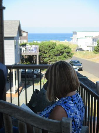 Manzanita, Oregón: Deck & view for relaxing!