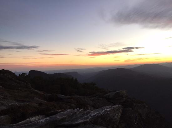 sunset on hawksbill with view of table rock picture of hawksbill rh tripadvisor com