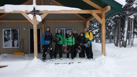 โกลเดน, แคนาดา: Quartz Creek warming hut