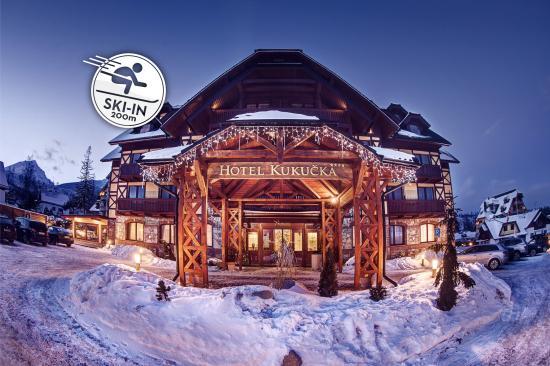 Tatranska Lomnica, Slovaquie : Ski in position