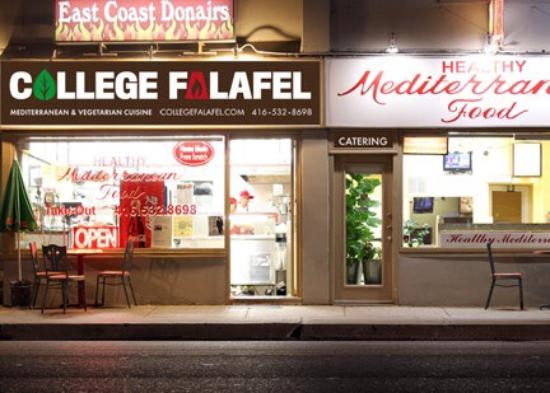 Photo of Greek Restaurant College Falafel at 450 Ossington Ave, Toronto M6G 3T2, Canada