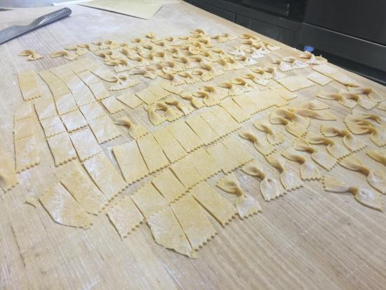 Verucchio, İtalya: Pasta fatta in casa