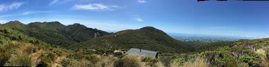 Stratford, นิวซีแลนด์: View from above the hut