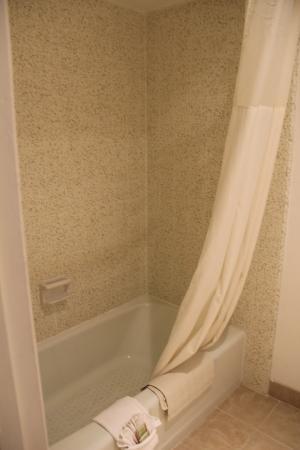Super 8 Salinas: chuveiro e banheira