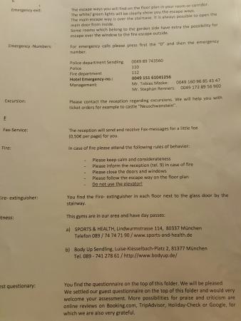 Hotel AMENITY München : Room i nfo