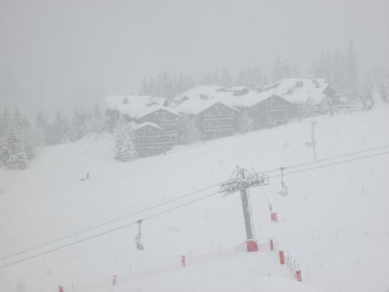 Savoie, Frankrike: A blizzard