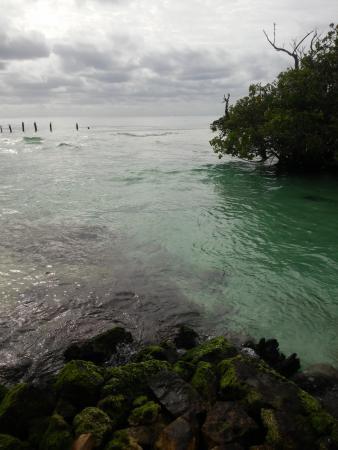 Hacienda Tres Rios: agua transparente y playa muy limpia.