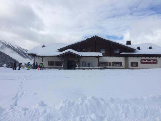 Sankt Johann im Pongau, Austria: The Kreisten Alm on a great ski day