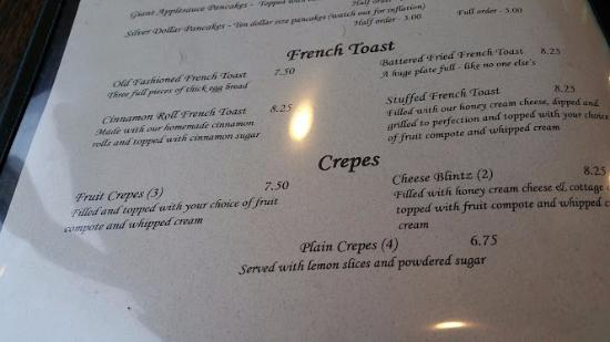 The Dalles, Орегон: French Toast etc