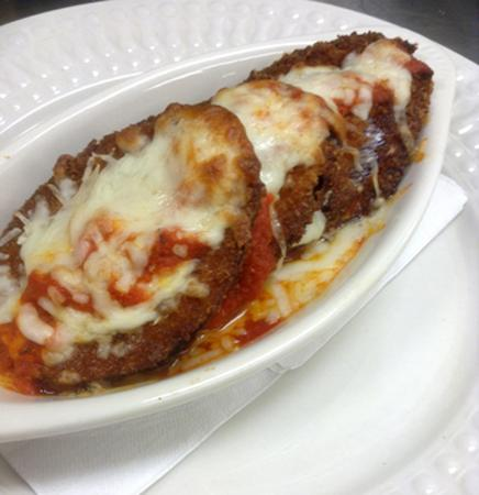North Kingstown, Род Айленд: Eggplant Parmesan