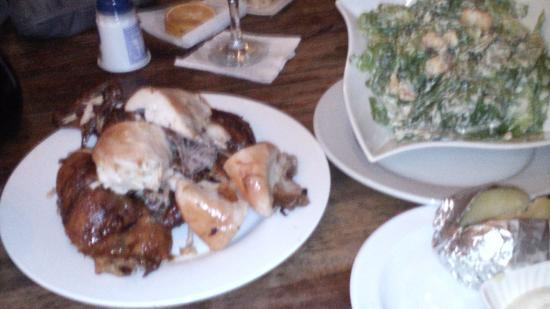 Playa Coronado, Panama: Wood-grilled chicken, Cesar Salad