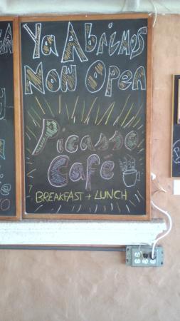 Playa Coronado, Panama: Picasso Cafe now open