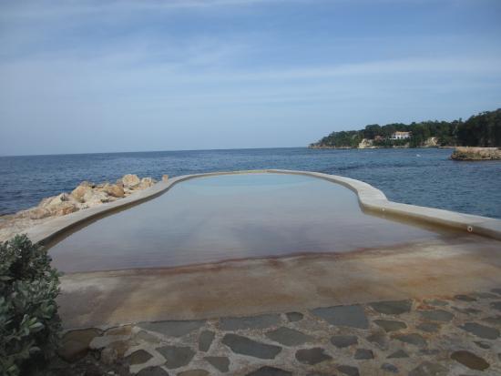 Goldeneye Resort: Salt water infinity pool at Bizot Bar