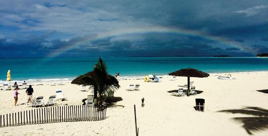 Treasure Cay, Great Abaco Island: View from the bar.