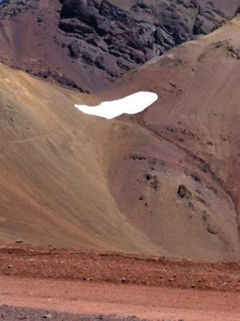 Las Cuevas, Argentyna: Copos de nieve permanente