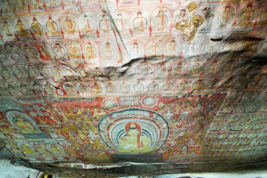 Dambulla, Sri Lanka: 天井画