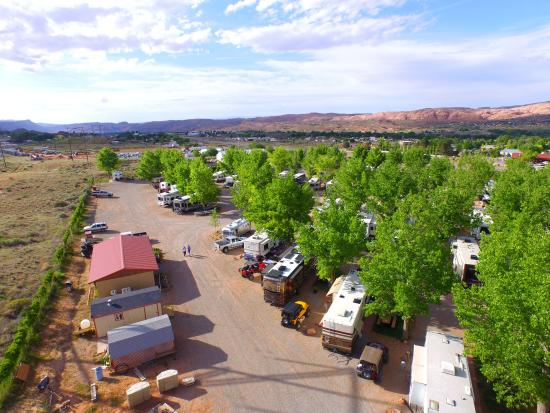 Aerial View of Spanish Trail RV Park