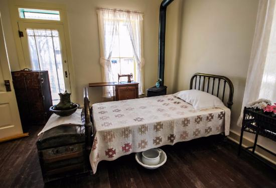 Douglas, AZ: bedroom on the San Bernardino Ranch / John Slaughter Ranch