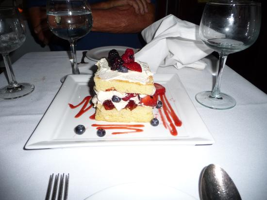 Fresco by Scotto: Delicious berry shortcake - wanted to go back another time for more!