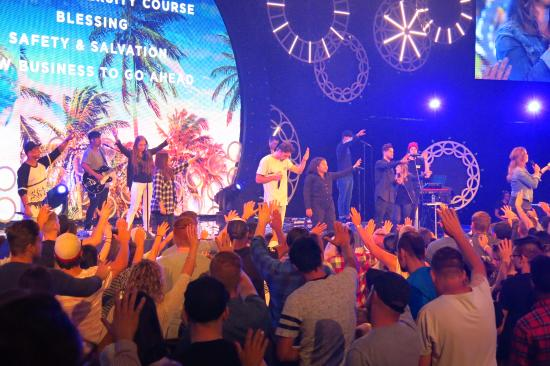 Baulkham Hills, Australia: During praise/worship