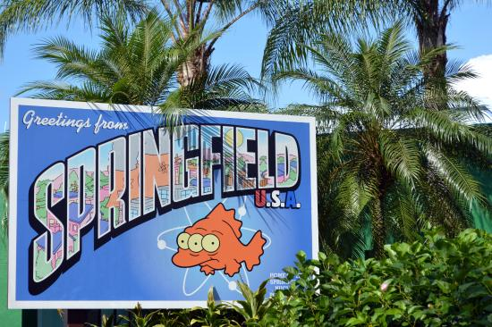 Springfield, OR: Ingreso al sector de los Simpsons