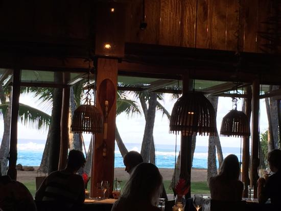 Paia, HI: View from our table of the ocean