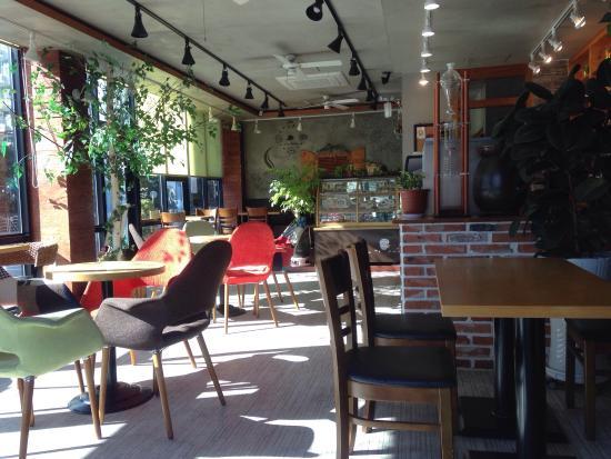 Geoje, Korea Południowa: The lovely interior of the coffee shop