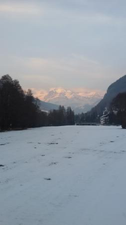 Ayas, Italië: Monte Rosa al tramonto