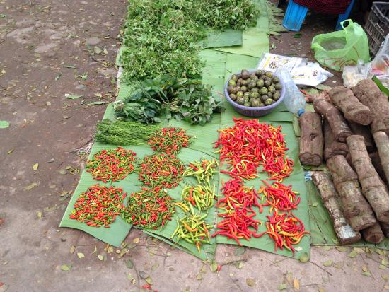 Luang Namtha, Laos: chillis at the morning market