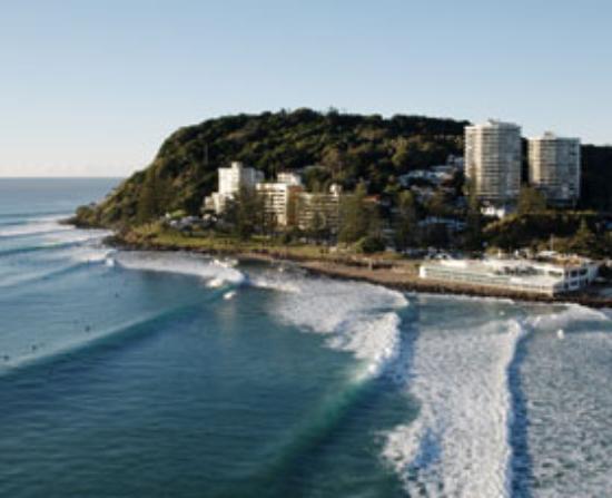 Burleigh Heads, Australien: waves peeling around the headland