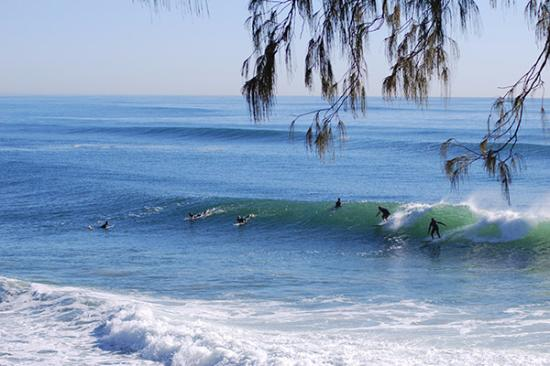 Burleigh Heads, Australia: surfers getting that early morning wave