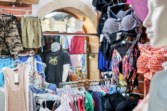 Almyrida, Kreikka: In our shop you can find a wide selection of  quality t-shirts bikini and dresses!