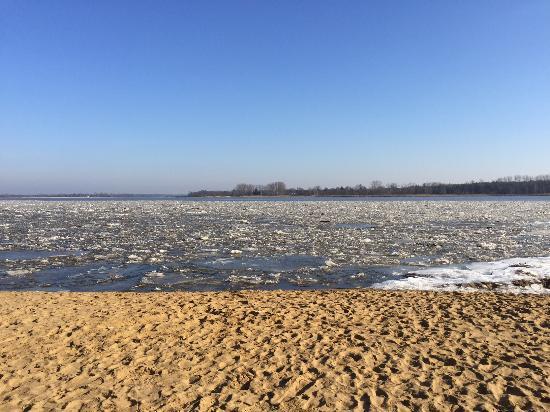 Serock, بولندا: plaża nad rzeką :)