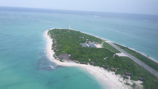 Quirimbas Archipelago, Mozambique: Aerial view solar plant 2