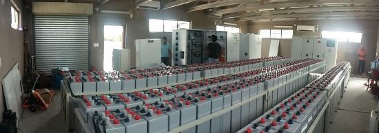 Quirimbas Archipelago, Mozambique: Computerized control room solar panel with inverters