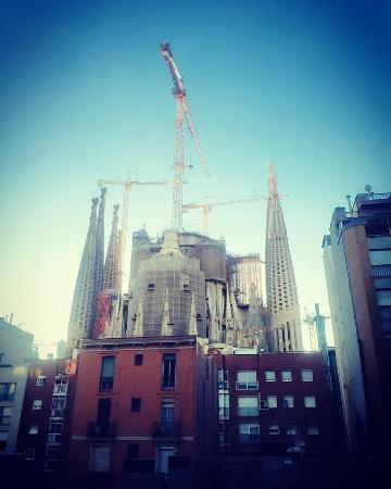 Sensation Sagrada Familia: View from apartment 103
