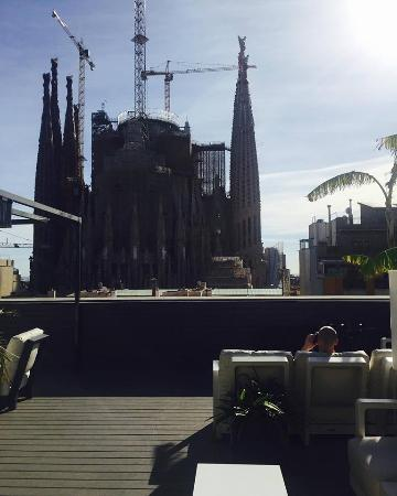 Sensation Sagrada Familia: View from rooftop terrace