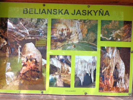 Tatranska Lomnica, Slovaquie : Belianská jeskyně..atraktivní foto poutač.