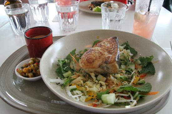 Noosaville, Αυστραλία: Swordfish with a thai curry sauce which was truely amazing.