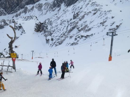 Alpspitz: Верхняя часть зоны катания на Альпшпитце