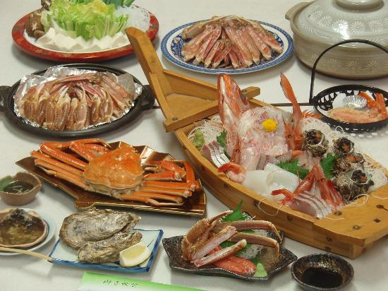 Kyotango, Japão: かに料理例