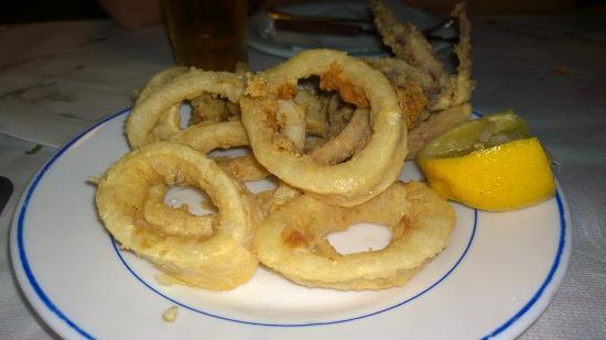Геннади, Греция: Кольца кальмаров в кляре